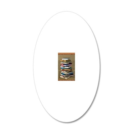 Book Lovers Blanket 2 20x12 Oval Wall Decal