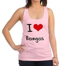 I Love Bongos Racerback Tank Top