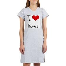 I Love Bows Women's Nightshirt