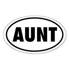 AUNT Oval Decal