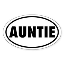 AUNTIE Oval Decal
