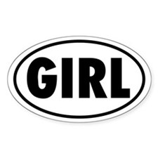 GIRL Oval Decal