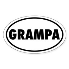 GRAMPA Oval Decal