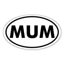 MUM Oval Decal