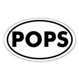 POPS Oval Bumper Stickers