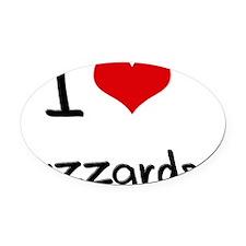 I Love Buzzards Oval Car Magnet