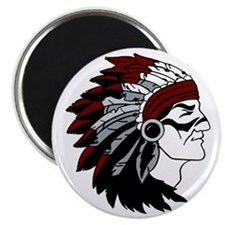 Native American Chief with Red Headdress Magnet