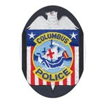 Columbus Police Oval Ornament