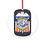 Columbus Police Ornament (Round)