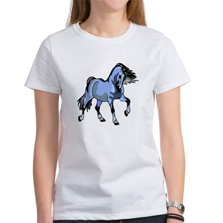 Fantasy Horse Light Blue Women's T-Shirt