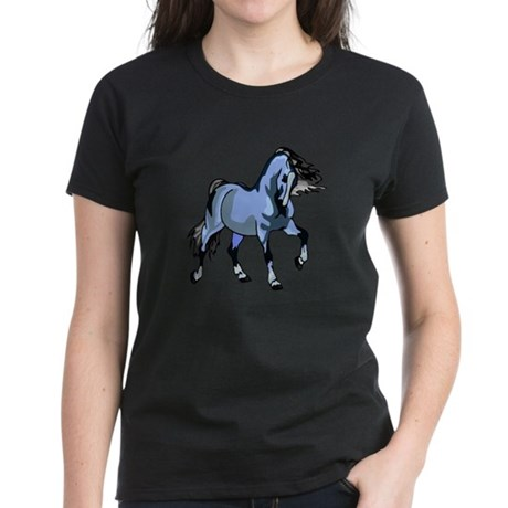Fantasy Horse Light Blue Women's Dark T-Shirt