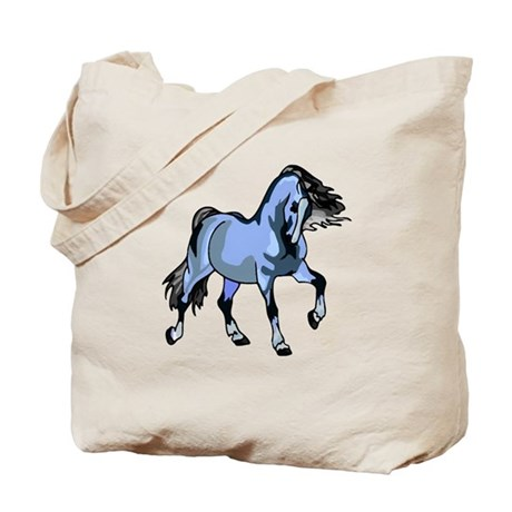 Fantasy Horse Light Blue Tote Bag