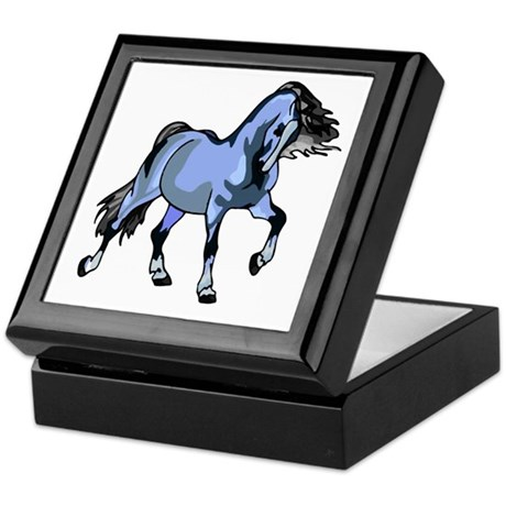 Fantasy Horse Light Blue Keepsake Box