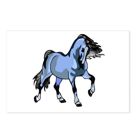 Fantasy Horse Light Blue Postcards (Package of 8)