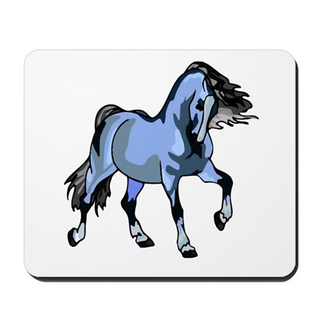 Fantasy Horse Light Blue Mousepad