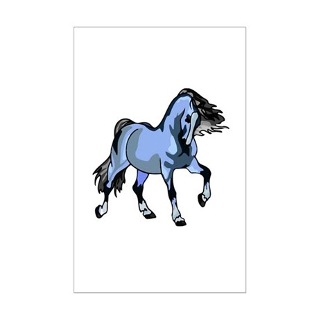 Fantasy Horse Light Blue Mini Poster Print