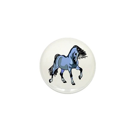 Fantasy Horse Light Blue Mini Button