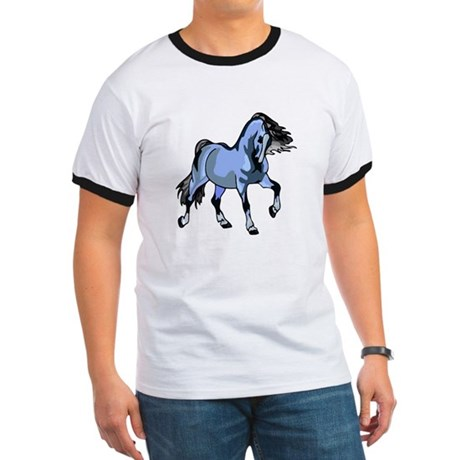 Fantasy Horse Light Blue Ringer T