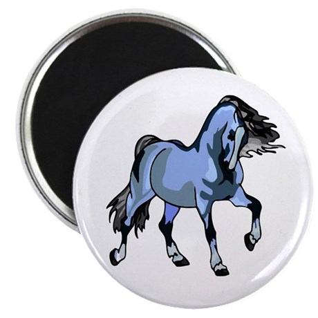 "Fantasy Horse Light Blue 2.25"" Magnet (100 pack)"