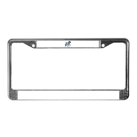 Fantasy Horse Light Blue License Plate Frame
