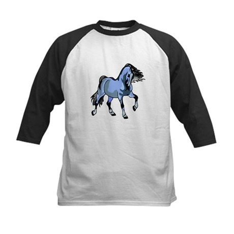 Fantasy Horse Light Blue Kids Baseball Jersey