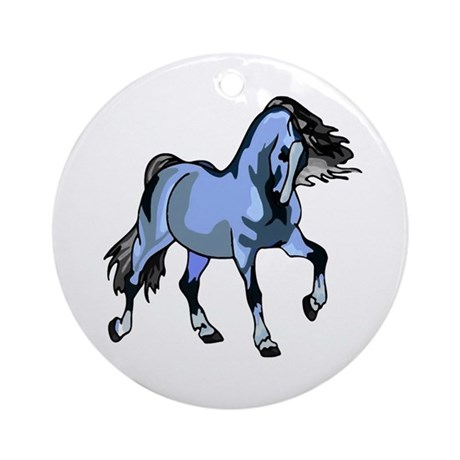 Fantasy Horse Light Blue Ornament (Round)