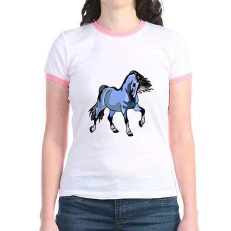 Fantasy Horse Light Blue Jr. Ringer T-Shirt