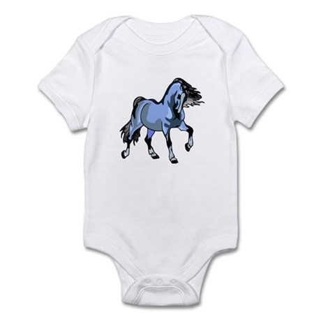 Fantasy Horse Light Blue Infant Bodysuit