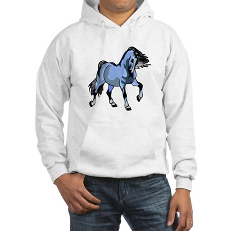 Fantasy Horse Light Blue Hooded Sweatshirt