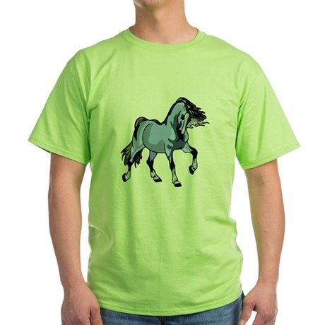 Fantasy Horse Light Blue Green T-Shirt
