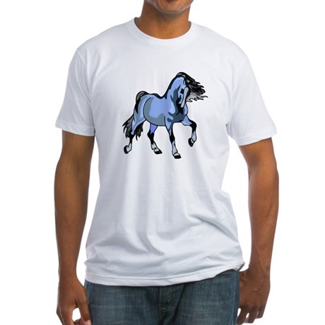 Fantasy Horse Light Blue Fitted T-Shirt