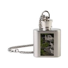 Amicalola Falls in Georgia Flask Necklace