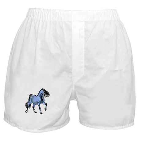 Fantasy Horse Light Blue Boxer Shorts