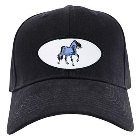 Fantasy Horse Light Blue Black Cap