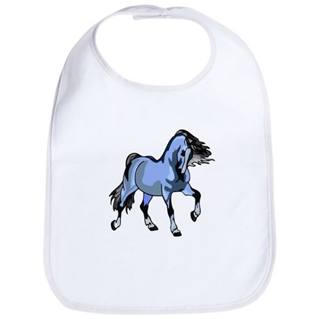 Fantasy Horse Light Blue Bib