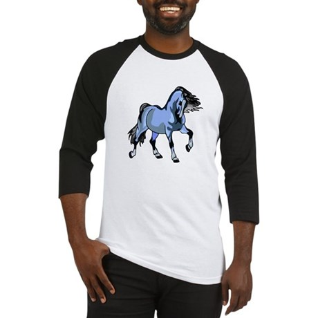 Fantasy Horse Light Blue Baseball Jersey