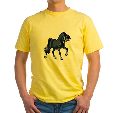 Fantasy Horse Blue Yellow T-Shirt