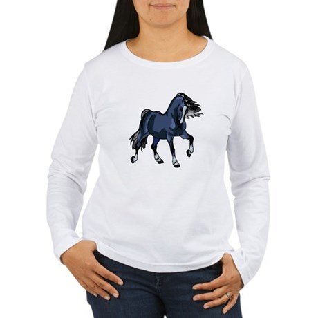 Fantasy Horse Blue Women's Long Sleeve T-Shirt