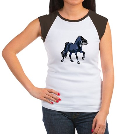 Fantasy Horse Blue Women's Cap Sleeve T-Shirt