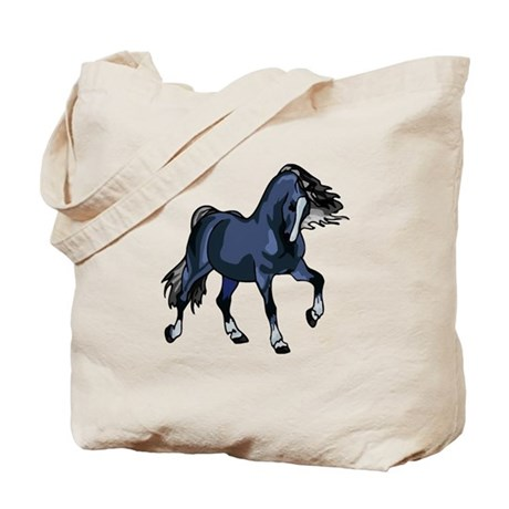 Fantasy Horse Blue Tote Bag