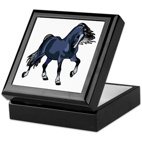 Fantasy Horse Blue Keepsake Box