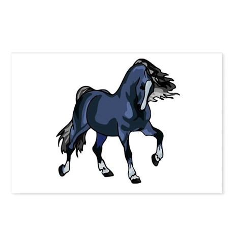 Fantasy Horse Blue Postcards (Package of 8)