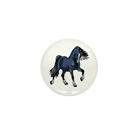 Fantasy Horse Blue Mini Button