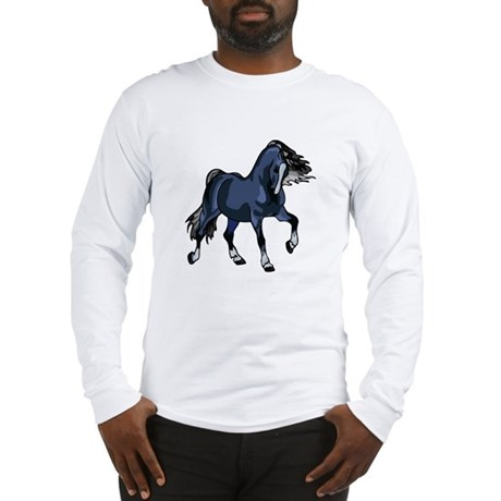 Fantasy Horse Blue Long Sleeve T-Shirt