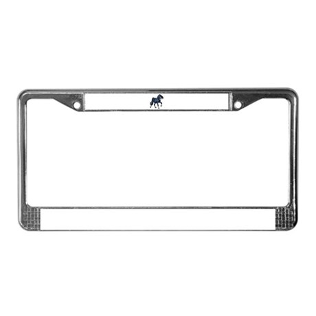 Fantasy Horse Blue License Plate Frame