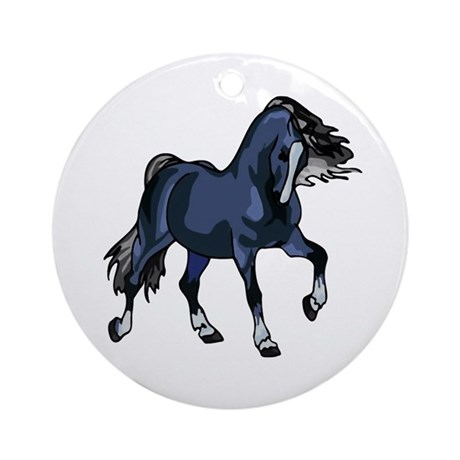 Fantasy Horse Blue Ornament (Round)