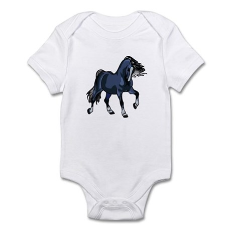 Fantasy Horse Blue Infant Bodysuit