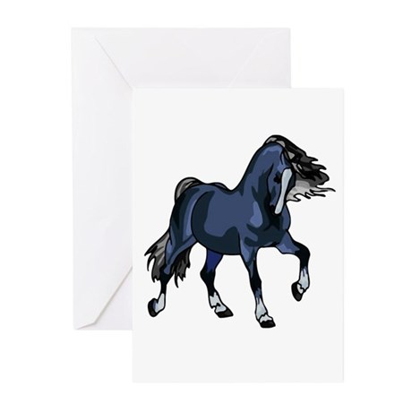 Fantasy Horse Blue Greeting Cards (Pk of 10)