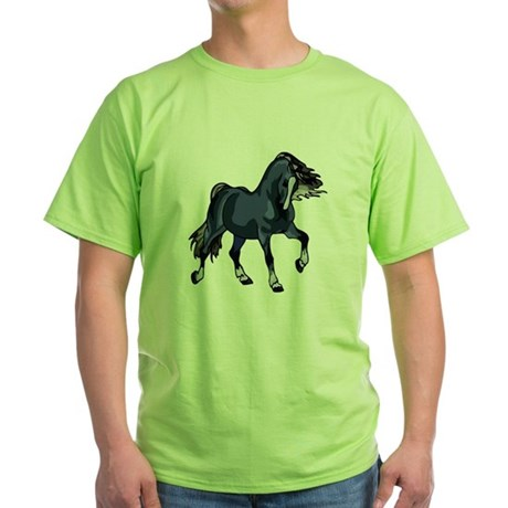 Fantasy Horse Blue Green T-Shirt