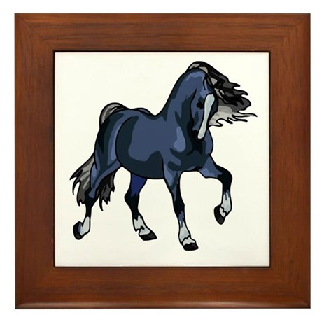 Fantasy Horse Blue Framed Tile